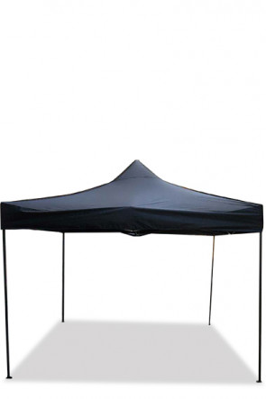 Event Tent Budget, 3x3 m,  30mm steel, black top. Incl. carry bag
