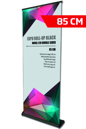 Expo Roll-up, Single Model 85cm - black    ( New size )