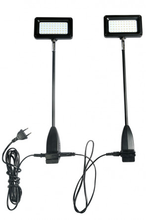 LED Spotlight 15W.,  black.  2 pcs. = 1 set