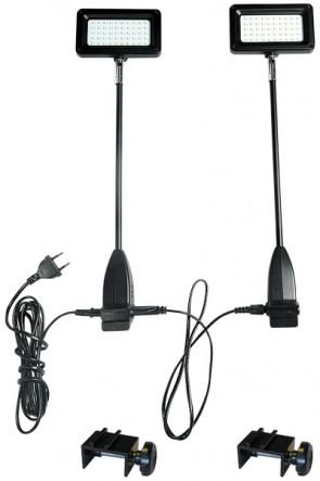 LED Spotlight 15W incl. fitting for Expo Wall -  black.  2 pcs. = 1 set