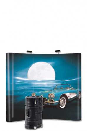 Pop-Up Wall Curved 3x3 - black
