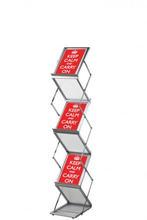 FLEX BROCHURE STAND 6 x A5 w/case