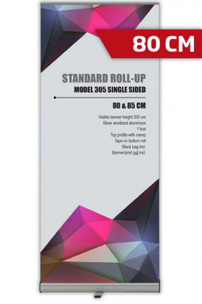 Standard Roll-up, 80cm,  single sided - alu