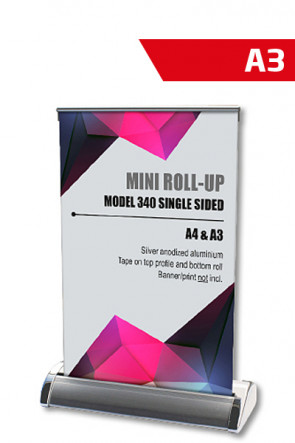Mini Roll-up, A3 - alu