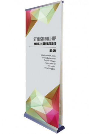 Stylish Roll-up, Double sided 85cm - alu