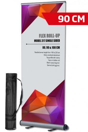 Flex Roll-up, single 90x100-230cm alu, with bag