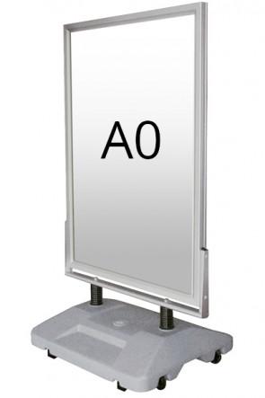 WIND-SIGN WATERBASE pavement board 45mm (M) A0 alu