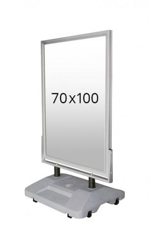 WIND-SIGN WATERBASE pavement board 45mm (M) 70x100cm alu