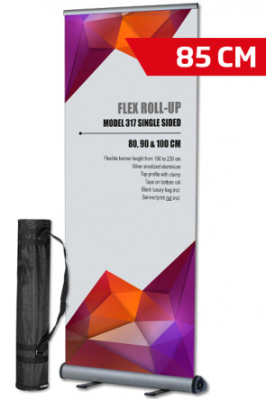 Flex Roll-up, single 85x100-230cm alu - with bag