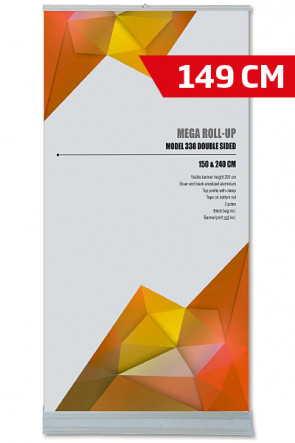 Mega Roll-Up, Model 150 Double sided alu
