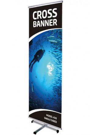 CROSS BANNER single 60x200cm alu