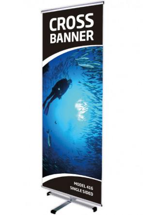 CROSS BANNER single 80x200cm alu