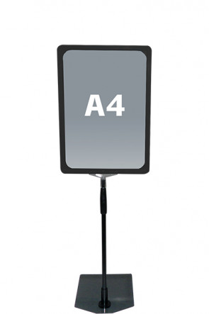 FLEX PLASTICFRAME w/base A4 black