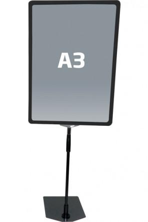 FLEX PLASTICFRAME w/base A3 black
