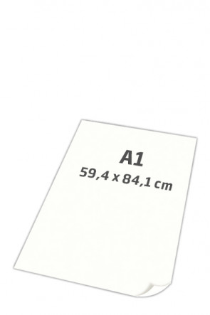 POSTER PAPER super smooth 100gr A1 white, 250 sheets