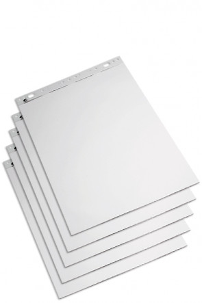 Flipchart pad  59x80cm white, 50 sheets.  (pack = 5 pads)