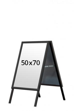 ALU-LINE BLACK pavementboard 32mm 50x70cm (M) - Black