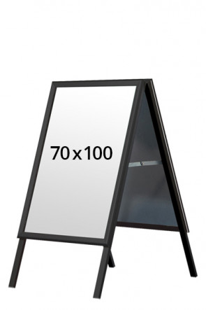 ALU-LINE BLACK pavementboard 32mm 70x100cm (M) - Black