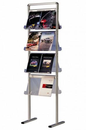 INFO-LINE brochurestand midi double 16xA4 ALU