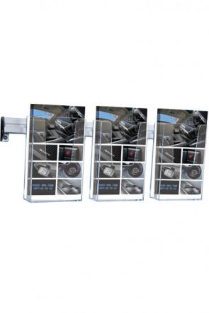 Brochure Holder Wall Arylic 3xM65