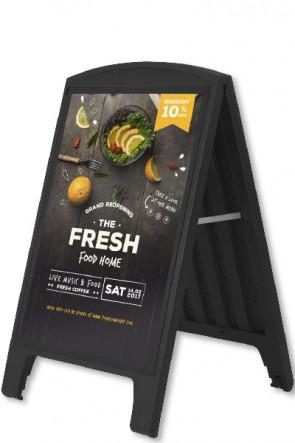 Compact Plast A-board, A1, black