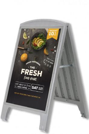 Compact Plast A-board, A1. Grey