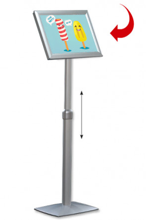 Adjustable Infoboard Flex, A3 mitred