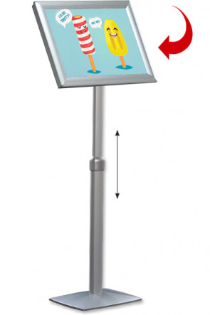 Adjustable Infoboard Flex, A2 mitred
