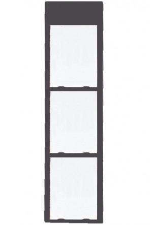 Info Module Board 3xA4 Charcoal RAL 7016