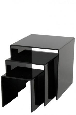 Nesting Shelves x 3 - black