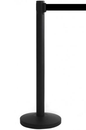 Crowd Barrier, Black with 3meter Black belt