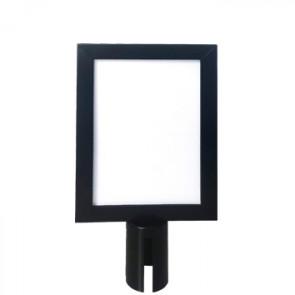 Sign holder for Crowd Barrier Belt system, Black, A4