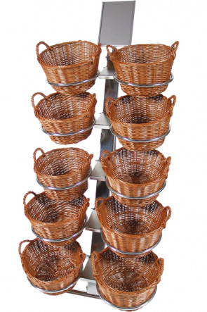 Shop Display with 10 round baskets