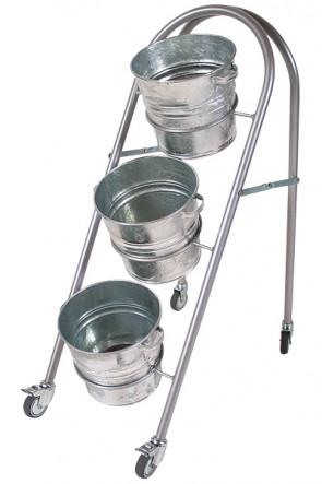 Shop Display with 3 buckets
