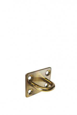 Crowd control rope holder, wall - Gold