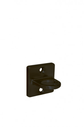 Crowd control rope holder, wall - Black