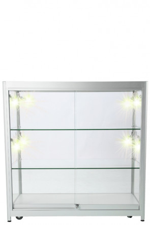 Showcase Counter, Duo - Silver. LED