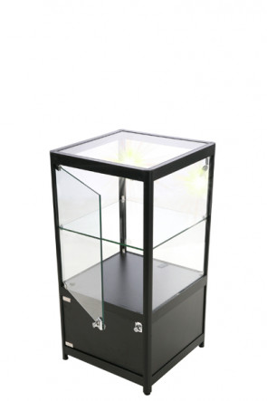 Showcase Counter, Solo, with locker - Black. LED