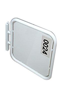 OUTDOOR SIGN kvadrat 70x70cm, dobbeltsidet - hvid