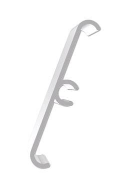 Exibit Clip On Fitting  - white